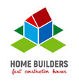 isometric 3d house vector image vector image