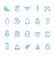 line with blue background man clothing icons vector image