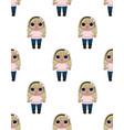 lol girl badolls pattern vector image vector image