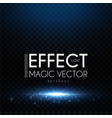 magic scene elegant shining space with light vector image