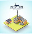 manufacturing buildings background vector image vector image