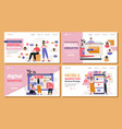 marketing web page template set vector image vector image