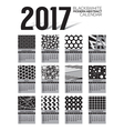 Modern Abstract 2017 Printable Calendar vector image vector image