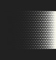 monochrome circles halftone background vector image