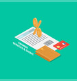 payment and credit services concept vector image