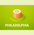 philadelphia isometric icon isolated on color vector image vector image