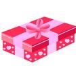 pink gift box vector image vector image