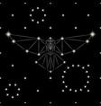 polygonal raven vector image