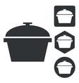 Pot icon set monochrome vector image vector image