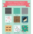 Print trends fall winter season 2016 vector image vector image