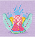 punchy pastel fruits vector image