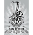 retro poster for jazz concert with saxophone and vector image vector image