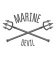 Retro vintage nautical label and badge logo vector image