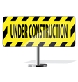 Road Yellow Construction Sign Icon vector image