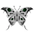 robot butterfly in metal steampunk style cyborg vector image vector image