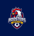 rooster mascot sport logo design vector image vector image