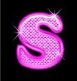 s letter pink bling girly