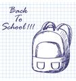 School backpack vector image vector image