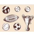 School props balls vector image
