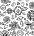 Seamless pattern with lace diamonds flowers leaves vector image vector image