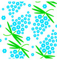 seamless pattern with simple cute flowers vector image vector image