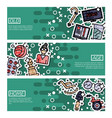 set of horizontal banners about old age vector image vector image