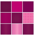 Set of seamless magenta patterns vector image vector image