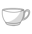 shadow coffee cup cartoon vector image