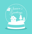 snow globe for christmas theme vector image