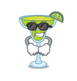 super cool margarita character cartoon style vector image