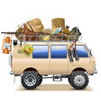 Travel Car with Safari Accessories vector image vector image