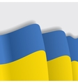 Ukrainian waving Flag vector image vector image