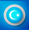 white star and crescent - symbol of islam icon vector image vector image