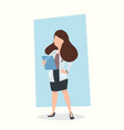 woman doctor holding clipboard vector image