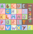 stylized font abc type design letter vector image