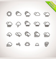 Weather Thin Line Icons for web and mobile applica vector image