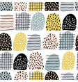 seamless abstract pattern with hand drawn elements vector image