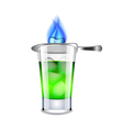 Absinthe isolated on white vector image