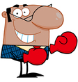 African American Manager With Boxing Gloves vector image vector image
