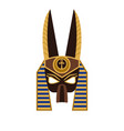ancient egyptian god anubis mask in flat vector image