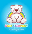 balogo bear vector image vector image