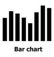bar chart icon simple style vector image