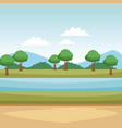beautiful landscape scenery vector image