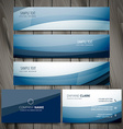 blue business banners and cards design vector image vector image