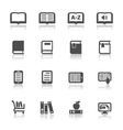 Book Icons with White Background vector image vector image
