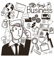 Businessman ideas and icon set Business vector image