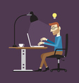 Businessman working time vector image vector image