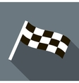 Chequered flag motor icon in flat style vector image
