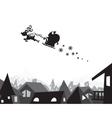 christmas city wallpaper vector image vector image