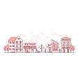 city life - modern thin line design style vector image vector image